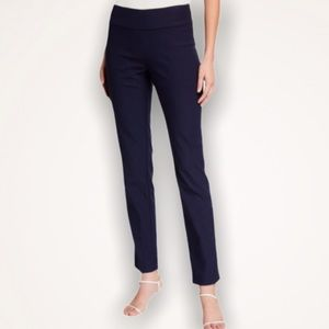 ANNE KLEIN High Rise Navy Compression Pants